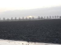 Akkerland bij Schokland op een wandeling over het Pionierspad van Schokkerhaven naar Vollenhoven