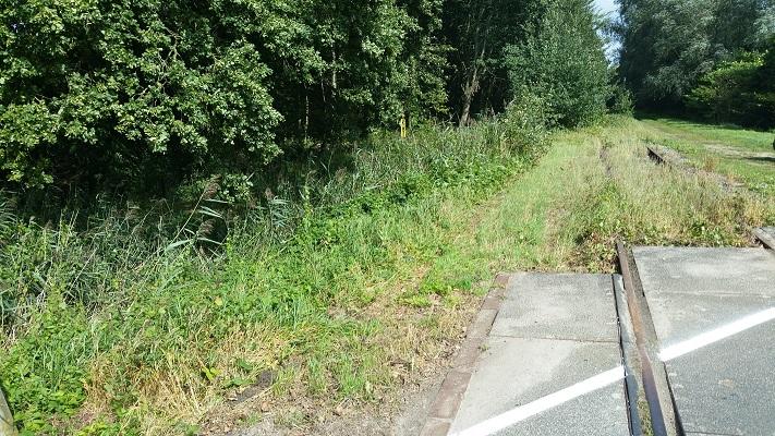 Voormalig spoorlijn Duits Lijntje tijdens een wandeling van Liempde naar Schijndel over het Roots Natuurpad