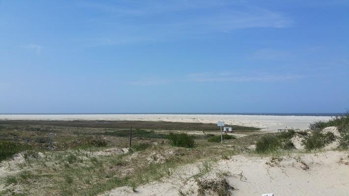 Stranden in een wandeling WaddenWandelen op Borkum