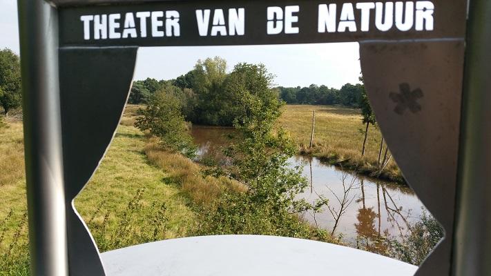Theater van de Natuur in Sellingen op wandeling over Westerwoldepad van Sellingen naar Vlagtwedde
