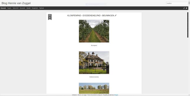 Screenshot Blogger Wandelblog Ambulare