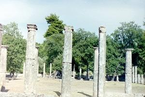 Opgravingen in Olympia tijdens wandelreis in Griekenland