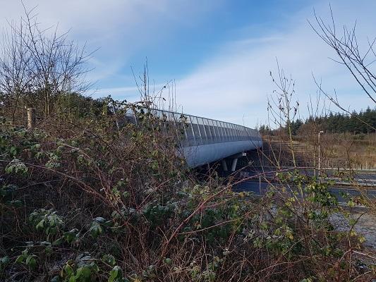 Ecoduct A50 WOlfheze op een wandeling over Klompenpad Molenbeeksepad bij Wolfheze