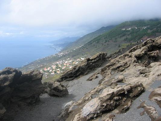 Zicht op Noorden van La Palma tijdens een wandelvakantie op Canarisch eiland La Palma