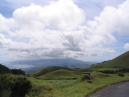 Landschap bij Ribeira Quinte tijdens een wandelvakantie op eiland Sao Miguel op de Azoren