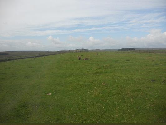Weids landschap op een wandeling van Heddon on Wall naar Chollerford op een wandelreis over de Muur van Hadrianus in Engeland