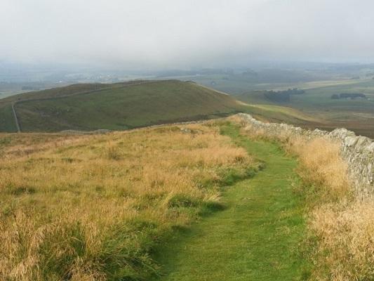 Weids landschap op een wandeling van Once Brewed naar Lanercost op wandelreis over Muur van Hadrianus in Engeland