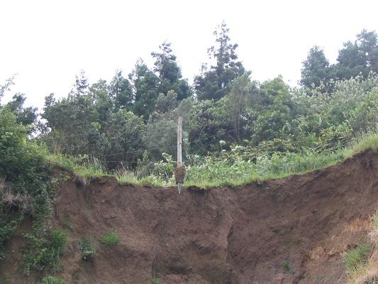 Aardverschuiving tijdens een wandelvakantie op eiland Sao Miguel op de Azoren