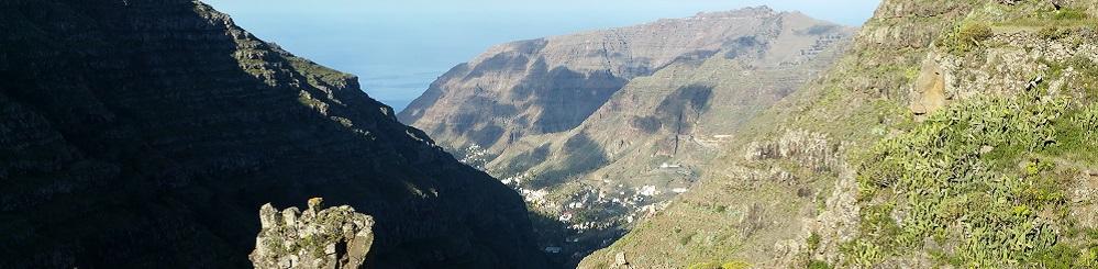Barranco van Erque op Canarisch eiland La Gomera