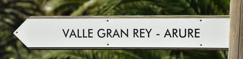 Handwijzer wandelingen richting Valle Gran Rey op Canarisch Eiland La Gomera