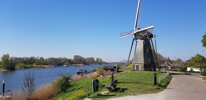 Wandeling over Klompenpad Hamarithapad bij Nederhemert bij molen Gebr. Remmerde