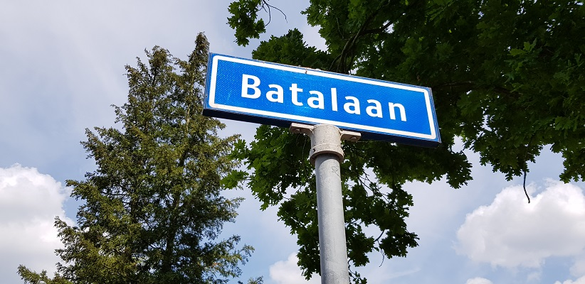 Wandelen buiten de binnenstad van Eindhoven over het Batapad in de Batalaan