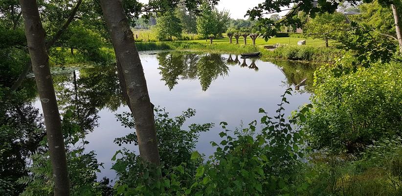 Wandeling Ommetje De Beemden en de Donken in Den Dungen bij wiel langs de ringdijk