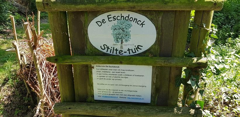 Wandeling over trage tocht door het Dommeldal bij Liempde bij stiltetuin de Eschdonk