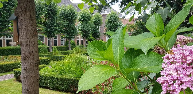 Wandelen in Delfland in Centrum Delft in het Klaeuwshofje