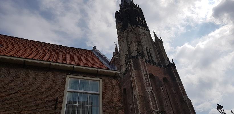 Wandelen in Delfland in Centrum Delft bij de Nieuwe Kerk