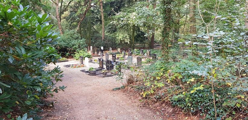 Begraafplaats Bakel tijdens wandeling Heemkundekring Bakel