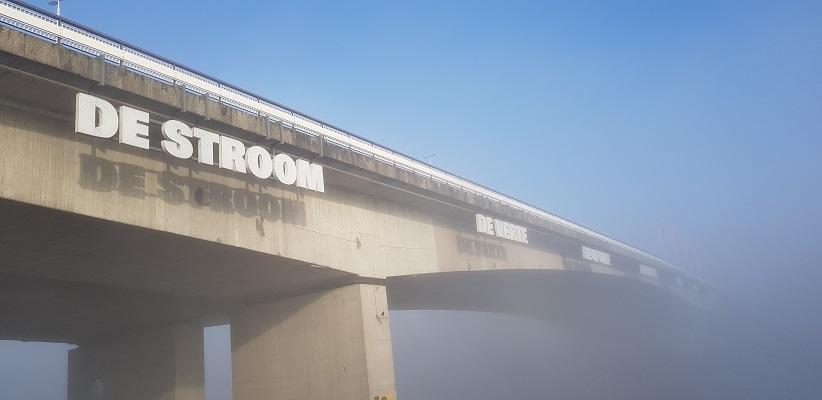 Wandeling over het Dijkenpad in Arnhem van Gegarandeerd Onregelmatig bij de Nelson Mandelabrug