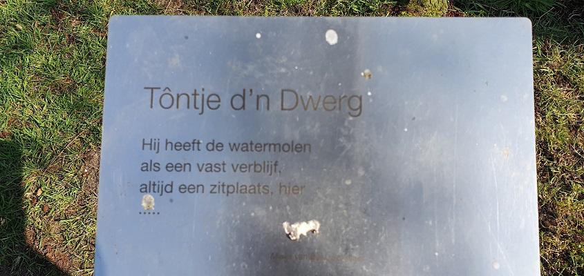 Wandeling Graancirkel in Oploo bij beeld Tôntje d'n Dwerg