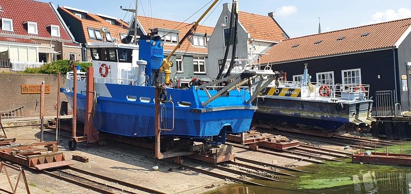 Wandeling op Urk bij de scheepswerf