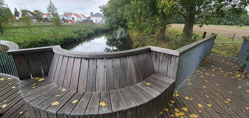 Wandeling over Ommetje Sint-Oedenrode bij brug over de Dommel