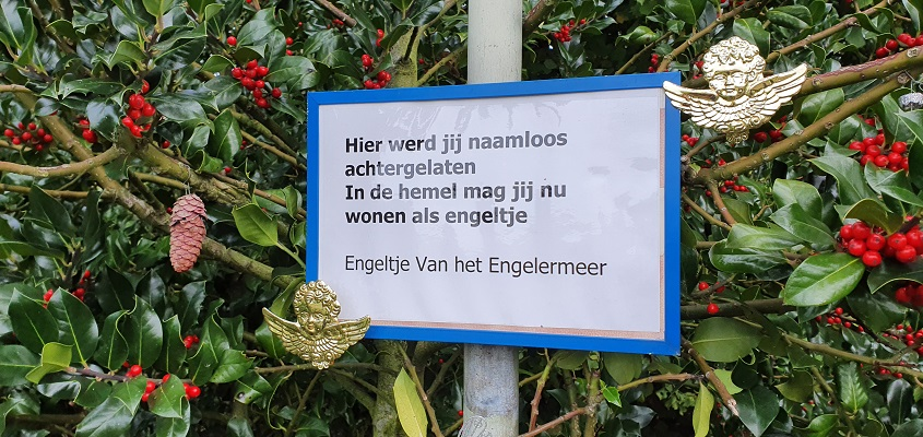 Wandeling in de omgeving van Den Bosch, Haverleij en Engelermeer, bij gedenkplek Engeltje van het Engelermeer