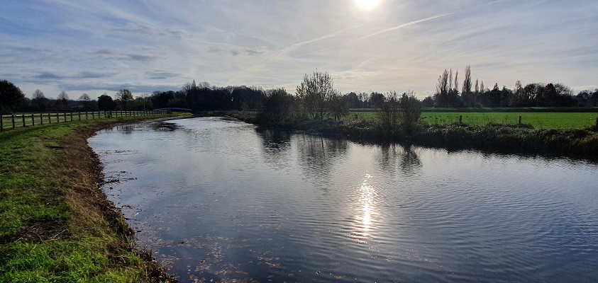 Wandeling over Stadse Trage Tocht Zutphen langs de Berkel