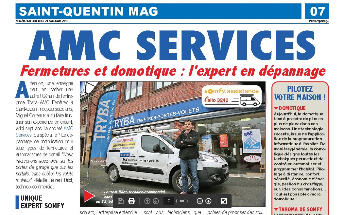 Saint-Quentin MAG : article AMC Services