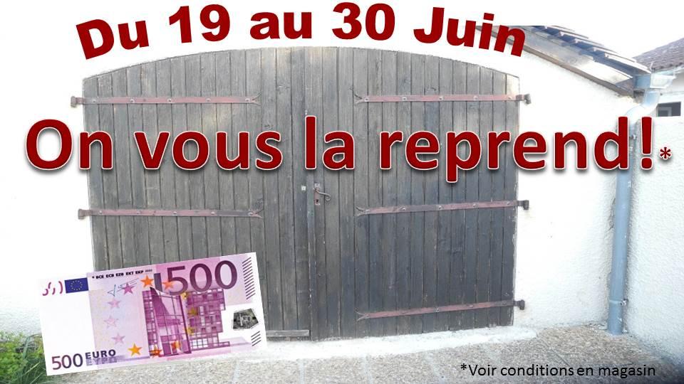 Reprise Porte de Garage du 19 au 30 juin