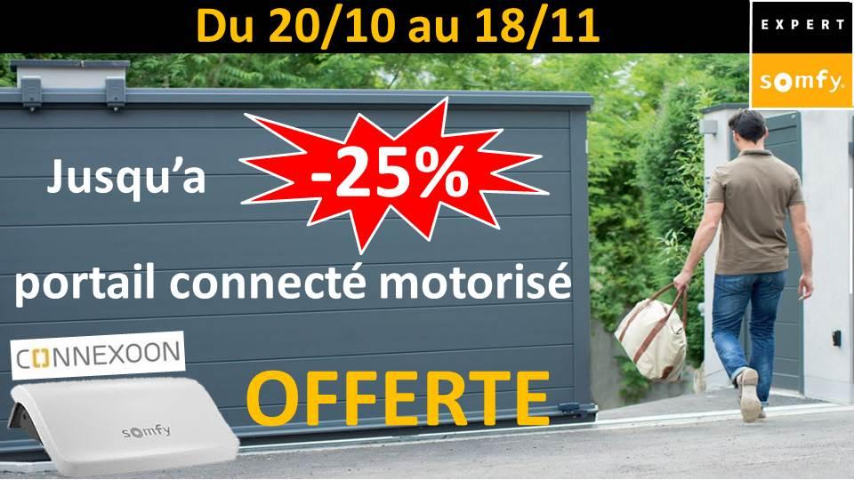 AMC fenêtres TRYBA : jusqu'à -25 % sur votre portail connecté motorisé et votre CONNEXOON OFFERTE