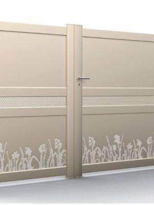 AMC Fenêtres : Portail KSM TESSELLE 2 vantaux végétal