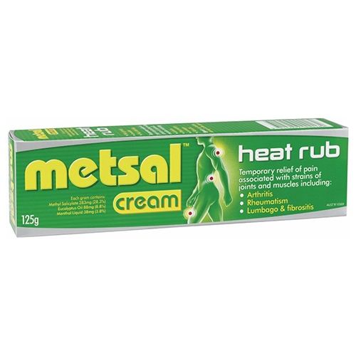 Metsal Heat Rub Cream - 125g | Amcal