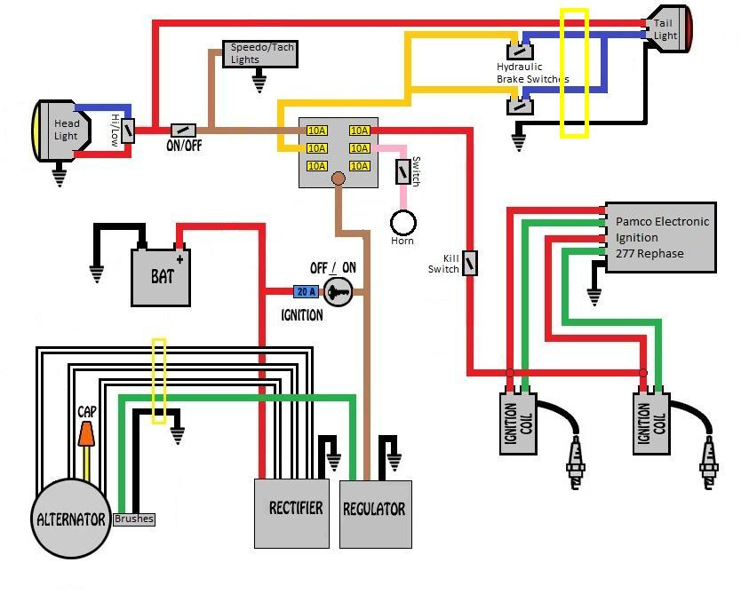 Wiring From Scratch Judge My Diagram Yamaha Xs650 Forum Wiring