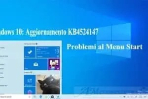 Windows 10: Aggiornamento KB4524147 problemi al menu start