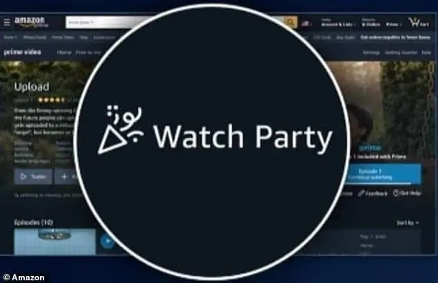 Amazon Watch Party film e serie tv con amici o familiari