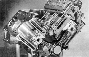 Cutaway View of V8 Engines