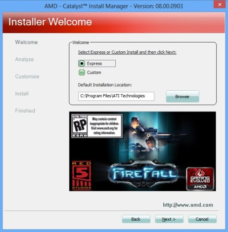 install driver catalyst5