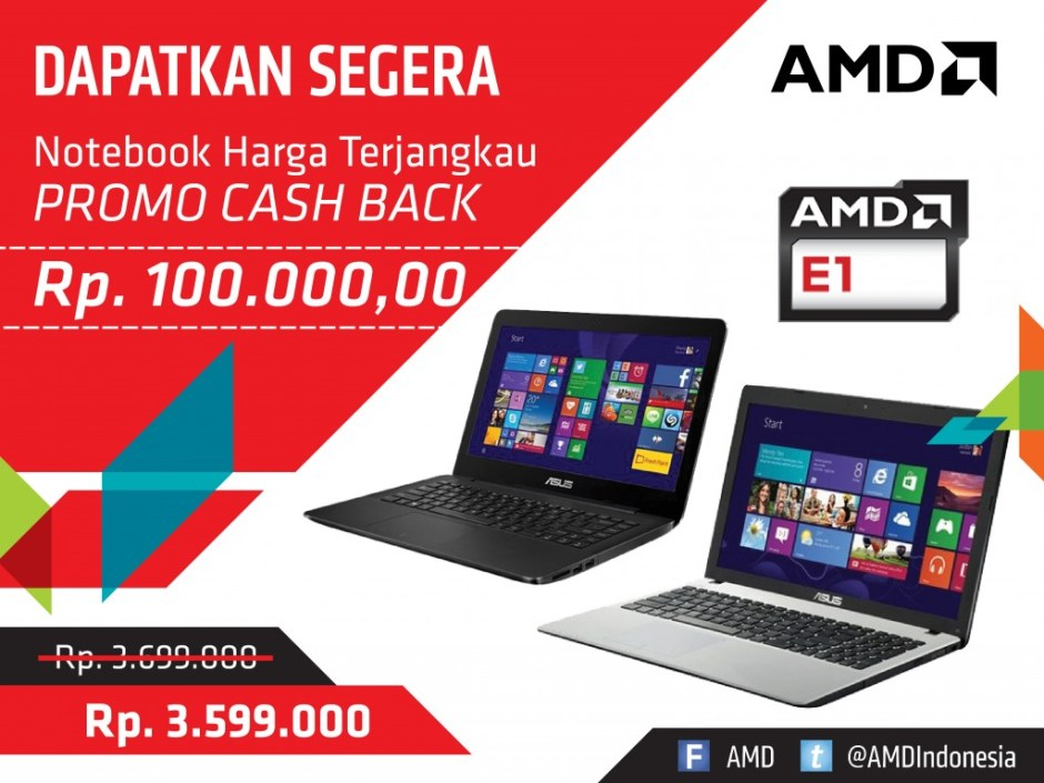 PROMO CASH BACK ASUS AMD APU E1