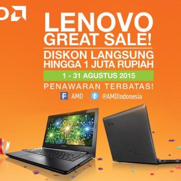 Lenovo G40-45 Dapatkan Diskon Langsung Hingga 1 Juta Rupiah!
