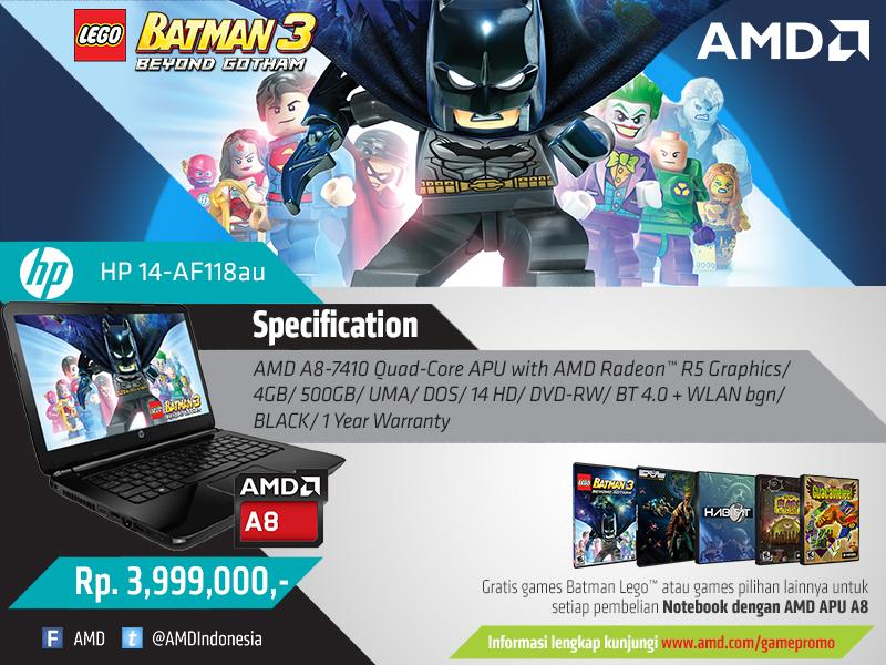 Bonus Game Original Notebook AMD APU A8