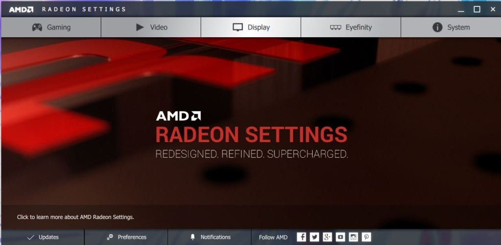 AMD Radeon Crimson Setting