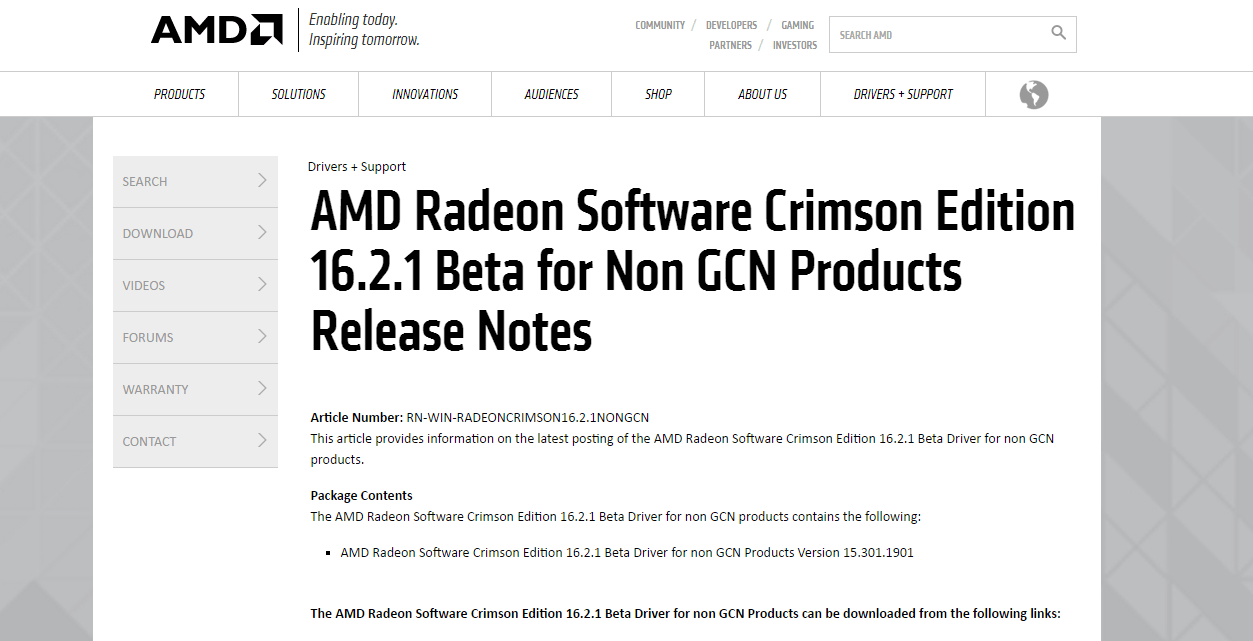 Panduan Instalasi Driver AMD RadeonTM Software Crimson