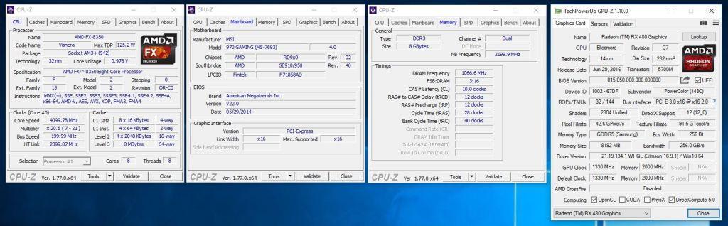 cpuz-gpuz spek sistem rx 480 + fx 8350