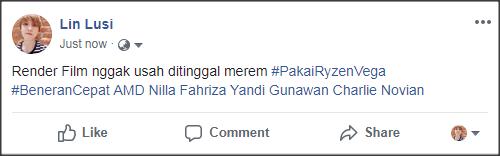 Contoh Status Facebook #BeneranCepat