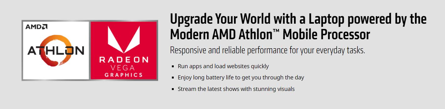AMD Athlon™ 300U Mobile cocok untuk