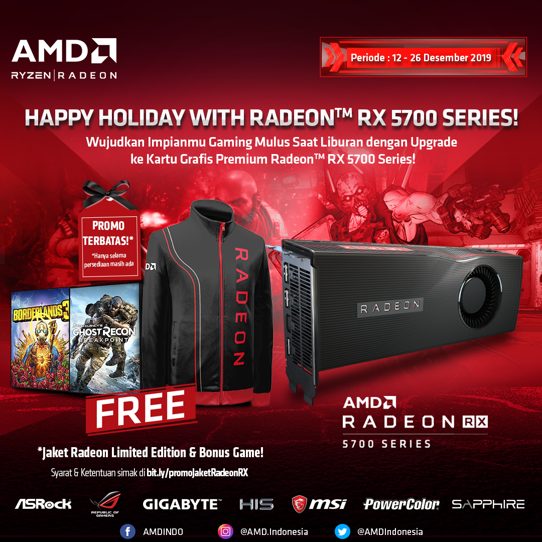 Promo Happy Holiday with Radeon™ RX 5700 Series