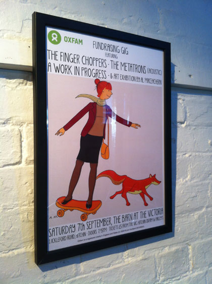 Oxfam gig poster