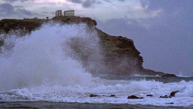 Photo of «Ο Ποσειδώνας επισκέφτηκε τον ναό του!»: Εκπληκτικές φωτογραφίες του κυκλώνα στο Σούνιο