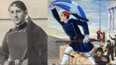 Photo of Κωνσταντίνος Κουκίδης: Ο Εύζωνας που έπεσε από τον ιερό βράχο της Ακρόπολης τυλιγμένος με την Ελληνική Σημαία.