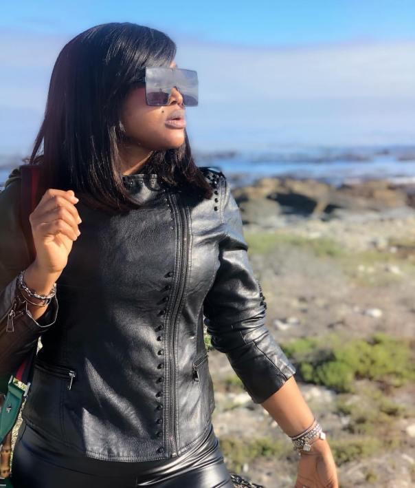 Mercy Aigbe Visits Robben Island